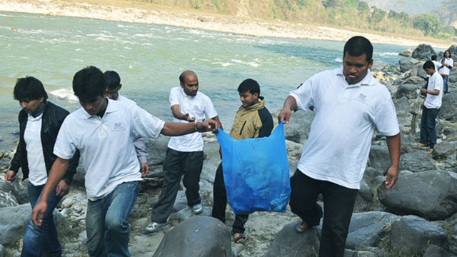 Trishuli River Cleaning up Campaign