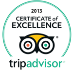 Trip Advisor - Certificate of Excellence 2013
