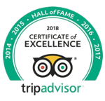 Hall of fame, Trip Advisor - Certificate of Excellence 2018