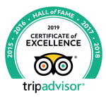 Hall of fame, Trip Advisor - Certificate of Excellence 2019